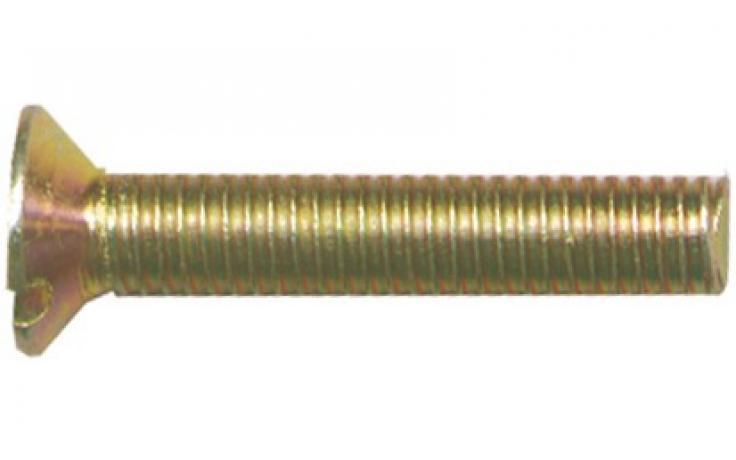 DIN 963 • pevn.tř. 4.8 • žlutý zinek • průběžná drážka