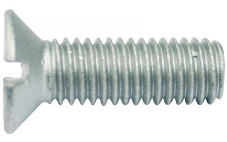 DIN 963 • pevn.tř. 4.8 • mikrolamelový zinkový povlak • průběžná drážka