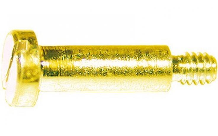 DIN 923 • pevn.tř. 5.8 • žlutý zinek • průběžná drážka • nákružek