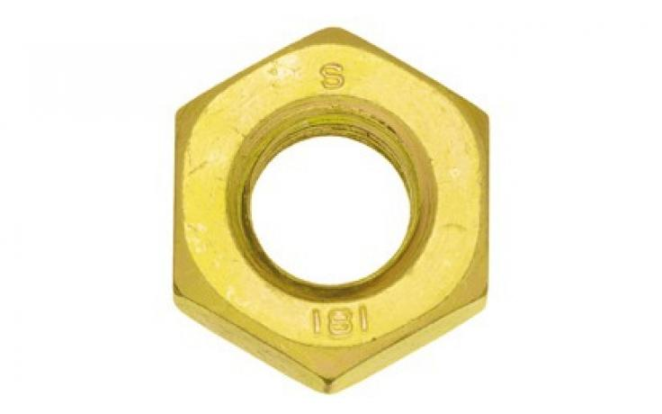 DIN 934 • pevn.tř. 6/I8I • levý závit • žlutý zinek