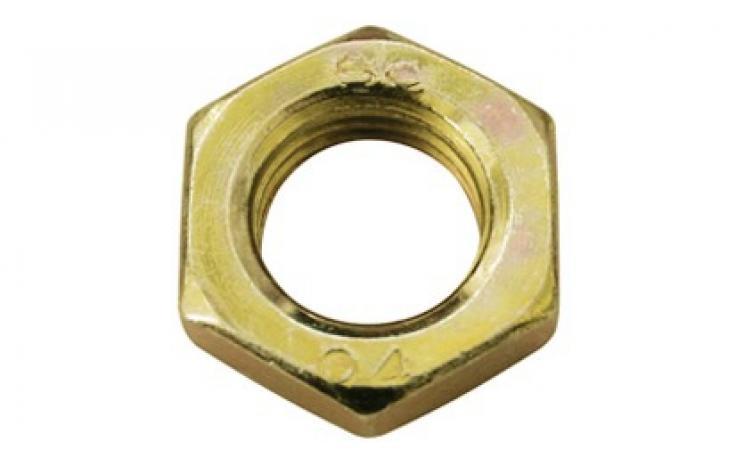 Forma B, ocel, pevn.tř. 04, jemný závit, žlutý zinek