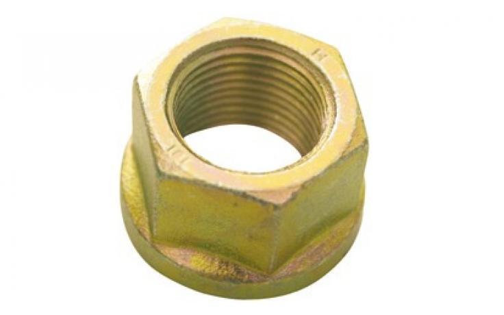 Forma B, plochý nákrůžek, ocel, pevn.tř. 8, žlutý zinek