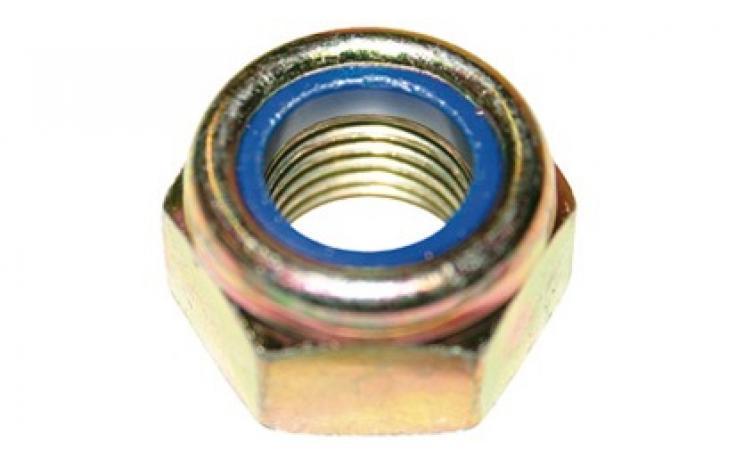 DIN 985 • pevn.tř. 6/I8I • jemný závit • žlutý zinek
