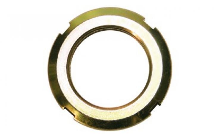 Matice kruhové, ocel, žlutý zinek