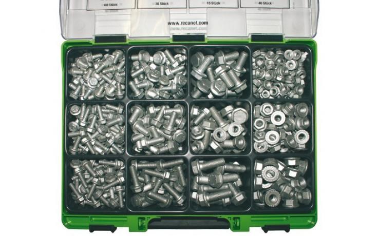 Sortimenty• RECA-LOCK šrouby & matice • mikrolamelový zinkový povlak