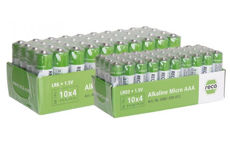 RECA baterie alkalické 40 ks v balení