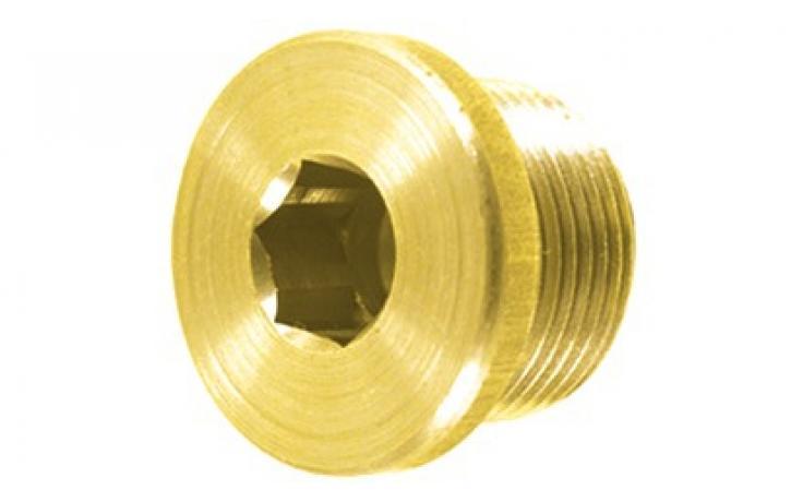 DIN 908 • pevn.tř. 5.8 • žlutý zinek • metrický jemný závit