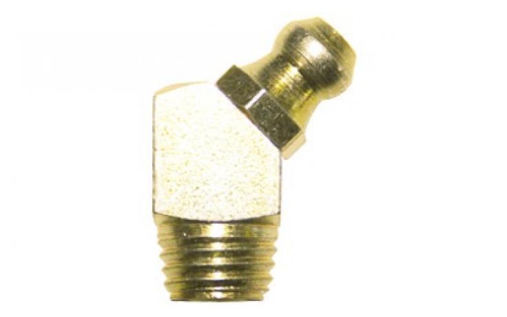 Forma B, 45 stupňů zahnuté, samozávrtné, ocel, žlutý zinek