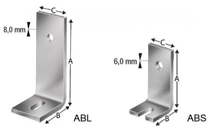Úhlové svorníky ABL ABS
