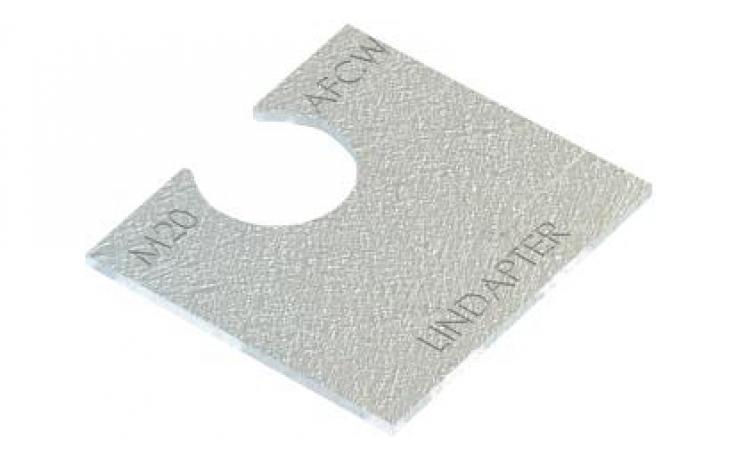 Vyrovnávací kus (pro AF / AAF) • typ AFCW • plochá ocel • žárový zinek