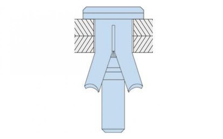 Hollo-Bolt • typ HBCSK • šroub se zápustnou hlavou • ocel • galv. zinek