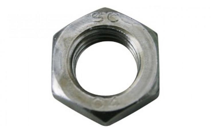 Flache Sechskantmuttern M18 DIN 439 (ISO 4035) Form B FKL 04 Stahl blank