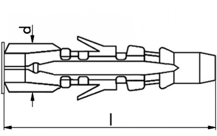 RECA- Multidübel RMU 10 x 60 mm (Box = 350 Stück)