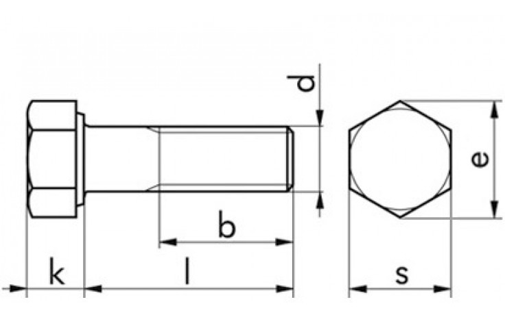 Sechskantschraube ISO 4014 - 10.9 - Zinklamelle silber - M10 X 100