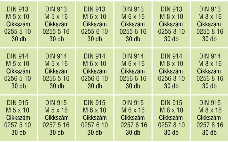 RECA Sortiment - ISO 4026/4027/4028 - 45H - blank - 540-teilig