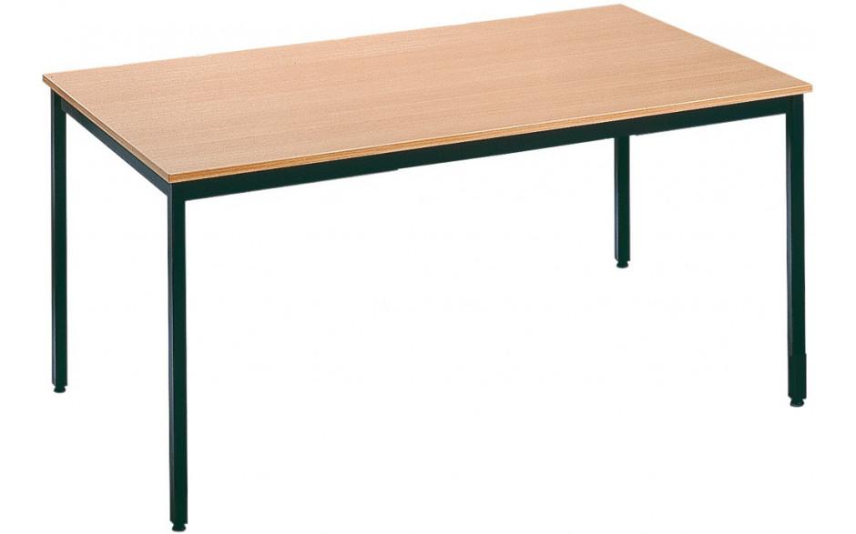 Tisch mit Metallgestell schwarz, Tischplatte: Buche-Tekor,H/47cm B/80cm L/180cm
