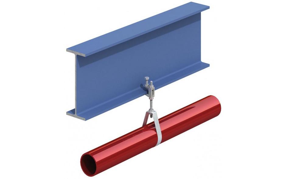 Lindapter® Trägerklammer Typ FL mit Gewinde - Temperguss - verzinkt blau - FL410T