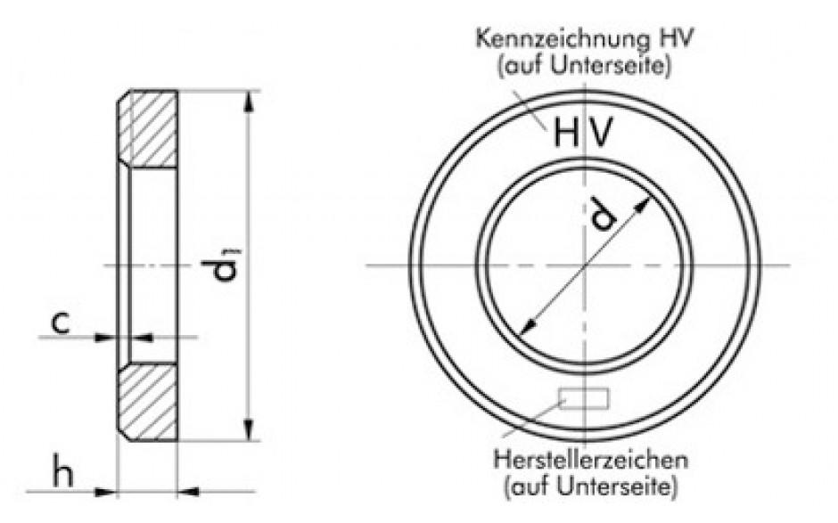 HV-Scheibe flach EN 14399-6 - feuerverzinkt - M12
