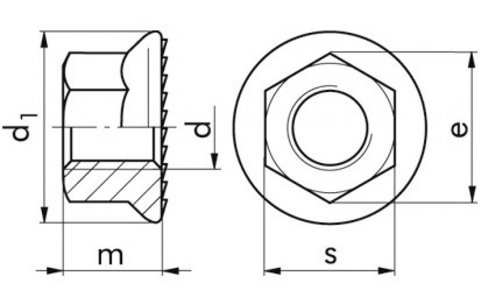 6923 Sperrzahnmutter 10 FLZNNC-720H M 14X1,5
