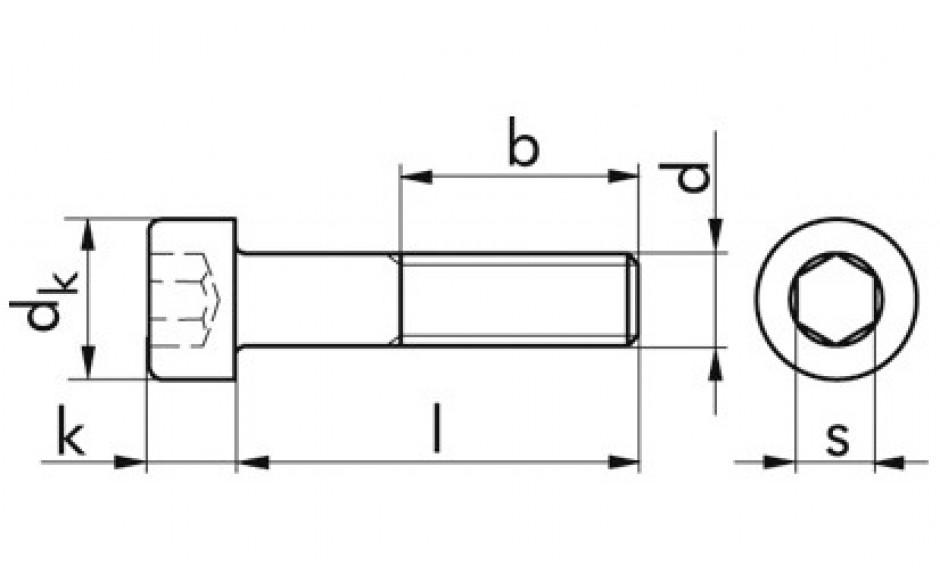 Zylinderschraube mit Innensechskant, M 2,5 x 8 DIN912 FKL 8.8 verzinkt