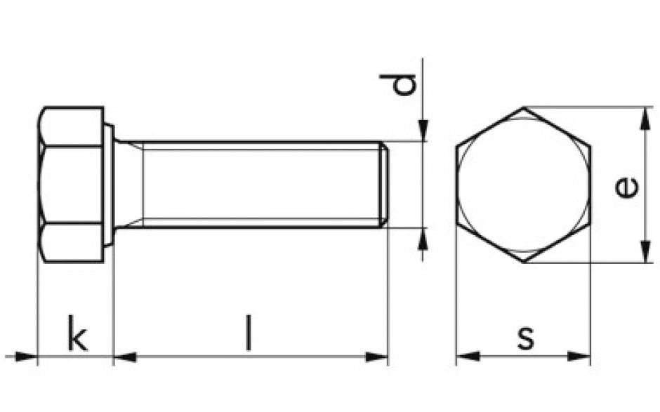 Sechskantschraube ISO 4017 - 8.8 - blank - M10 X 50