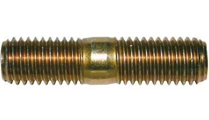 Stiftschraube DIN 835 - 5.8 - verzinkt gelb - M12 X 35