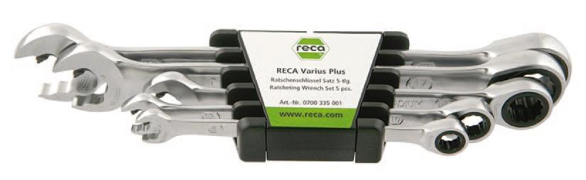 RECA Varius Plus Ratschenschlüssel Set 5-teilig