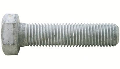 Sechskantschraube DIN 933 - 8.8U - feuerverzinkt - M10 X 20