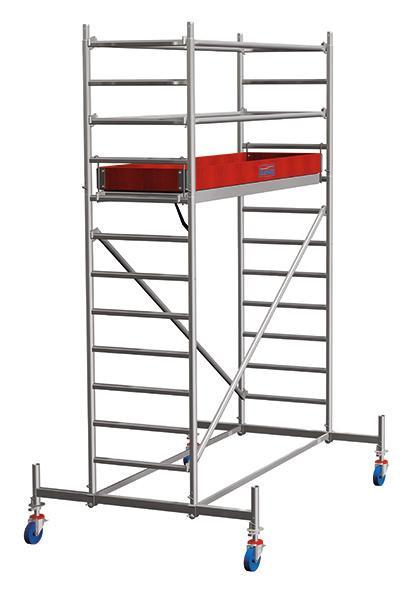 STABILO Aluminium-Fahrgerüst, Arbeitsplatform 75x250 cm, Arbeitshöhe 440 cm, 109 kg