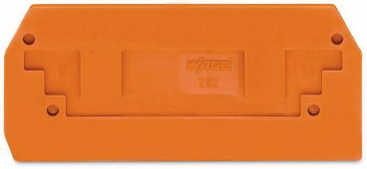 Abschlussplatte Durchgangsklemme Orange