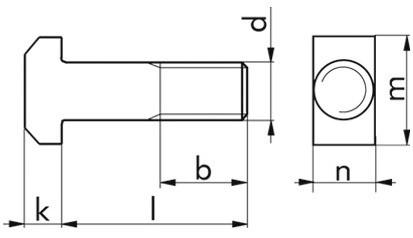 Hammerschraube DIN 186A - 4.6 - blank - M20 X 60