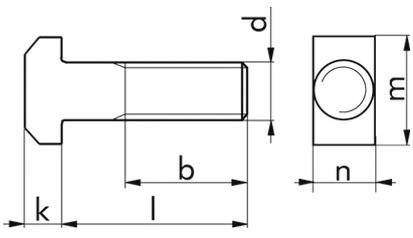 Hammerschraube DIN 186B - 10.9 - blank - M20 X 390
