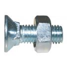 Šroub se zápustnou hl.s čtyřhranem a maticí M10x60 DIN 608 pevn.tř. 4.6 ocel zn