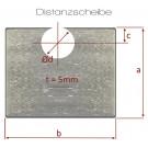MTH - distanční podložky + 5mm - ocel - pozink - D14