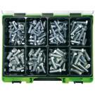 Sortimenty RECA DIN 933-8.8 pozink, M10-12, 132 dílů