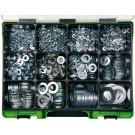 RECA sortimenty podložky DIN 125 pozink 3230 dílů