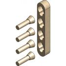 Metallfreie Konusverbindung Set B (Doppelbett)